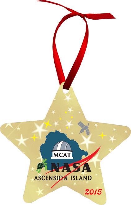 Shown with the NASA logo. Your ornament will not have this logo unless requested.