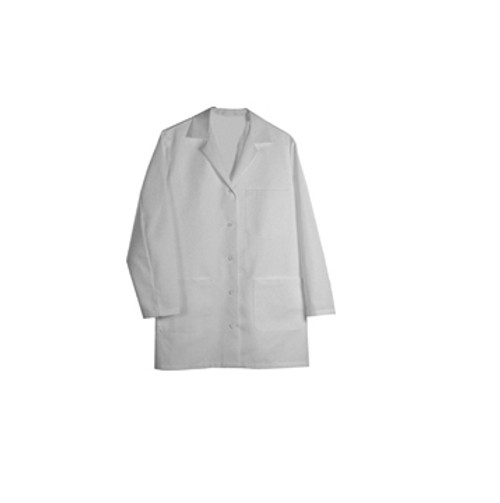 Woman's white lab coat