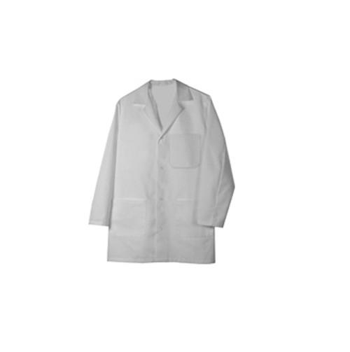 Man's white lab coat