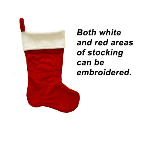 Red holiday stocking