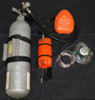 The RescuEAN pod hooked up to oxygen bottle