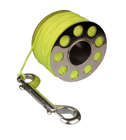 Finger Dive Reel 100 ft Stainless Steel Yellow