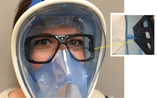 Full Face Mask Optical Lens Support