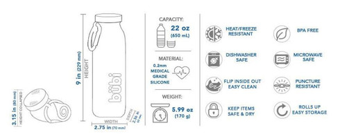 Silicone Water Bottle - Specifications