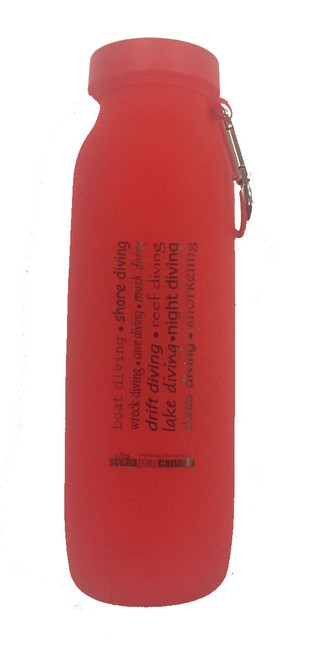 Silicone Water Bottle - Red
