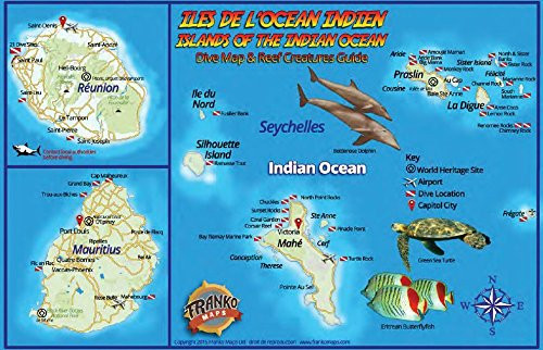 Fish ID Card and dive map for the Indian Ocean