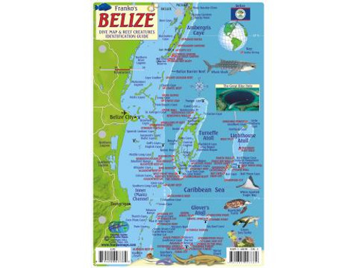 Waterproof Fish ID Card & Map - Belize
