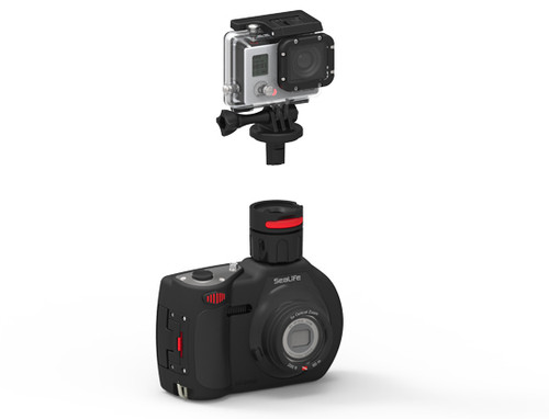 Flex-Connect Go Pro Mount Adapter Combined with Flex-Connect Cold Shoe