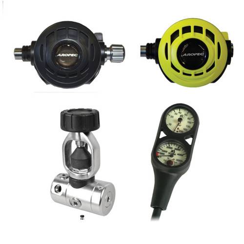 Aropec RG-1002 Zenith Plus Regulator Package for Scuba Diving