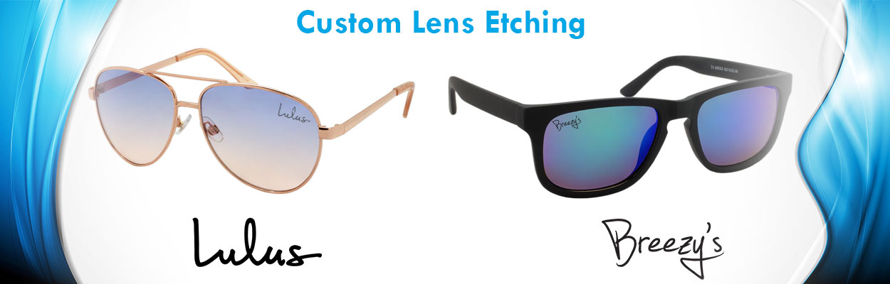 3e313f4156576 custom sunglasses - your logo - lens etching -shake eyes wholesale