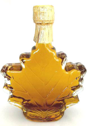 250ml Pure Maple Syrup Amber Rich / Medium Amber Glass Maple Leaf Kosher