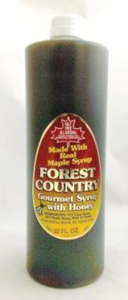 32oz (Quart) Forest Country Gourmet Breakfast Syrup w/Honey