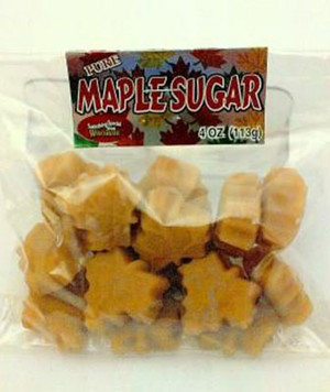 Maple Sugar Shapes - 4 oz bag - 1 unit - Kosher