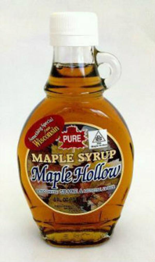 8oz (1/2Pint) Pure Maple Syrup Amber Rich / Medium Amber - Glass w/Handle - Kosher