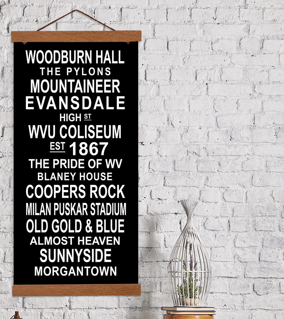 WVU Mountaineer Subway Sign. Fine Art Print