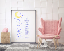 Spiritual Quote Poster Set of Four Fine Art Prints For Classroom, Library, Home or Nursery