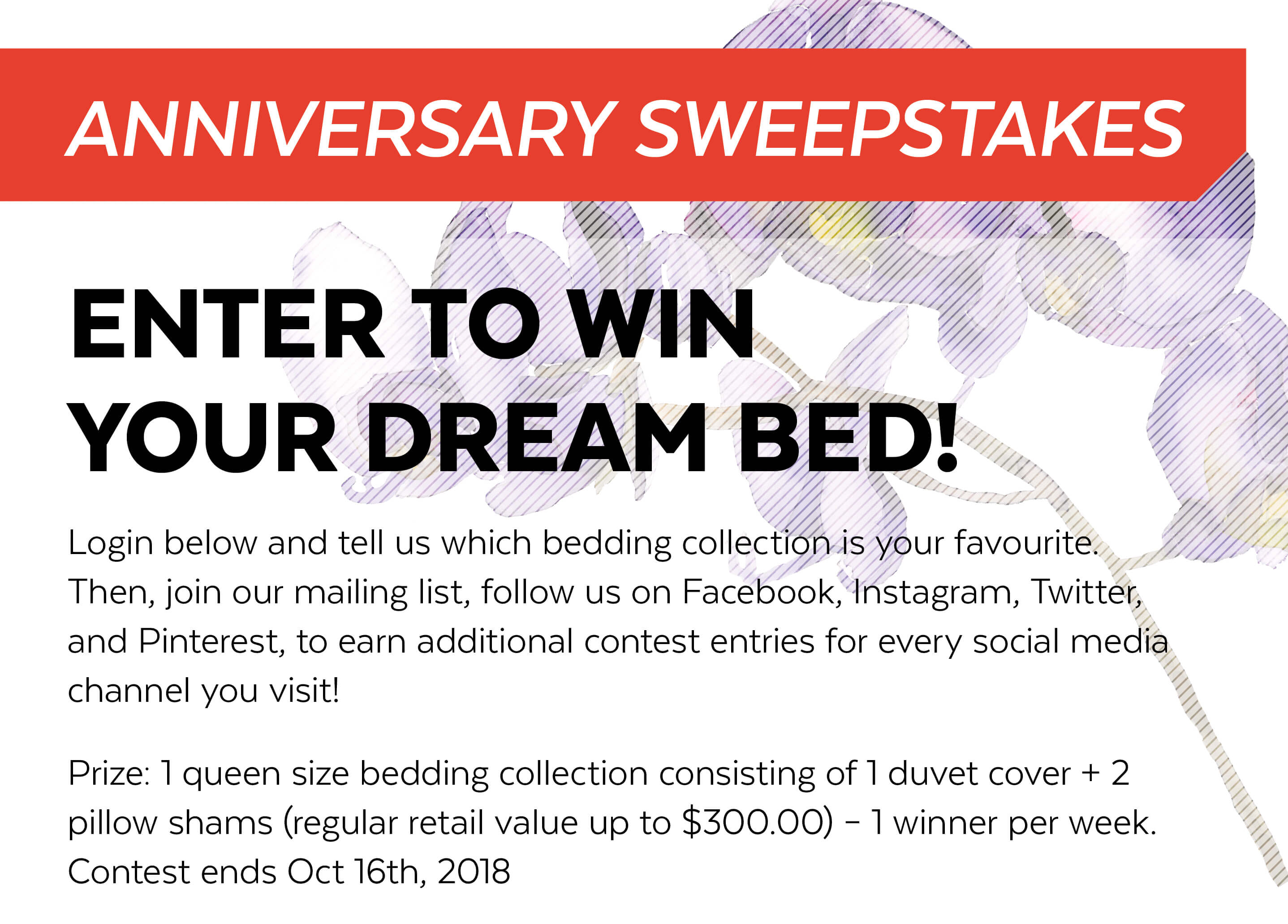 2018 mail in sweepstakes entries