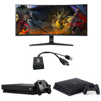 Can connect Xbox or Play Station 3/4 to Monitor with Display-Port Connection.