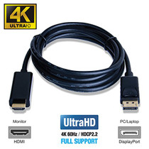 UPTab DisplayPort to HDMI™ 2.0a Active Cable 6FT