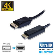DisplayPort to HDMI 2.0a Active Cable
