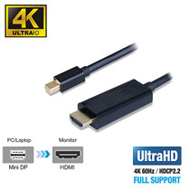 Mini DisplayPort to HDMI 2.0a Active Cable 6FT