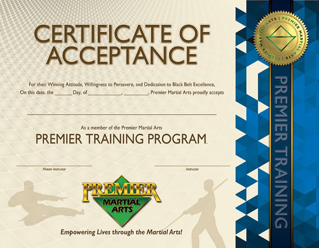 PMA Premier Training Certificate