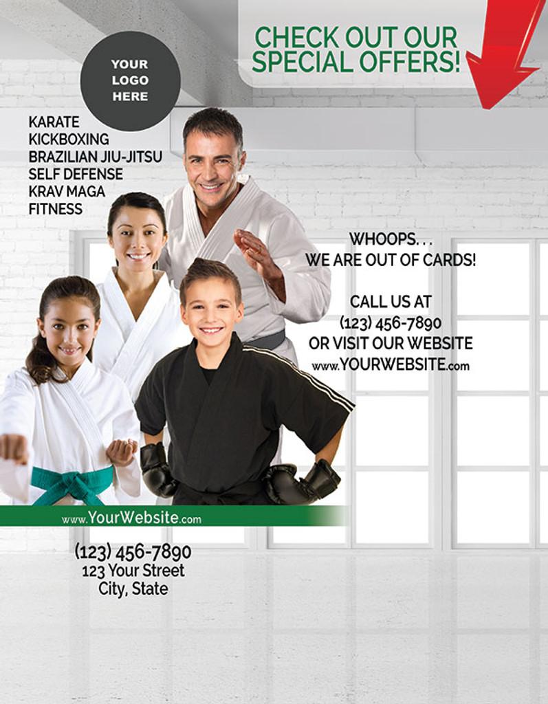 General Martial Arts POS Background Flyer V2