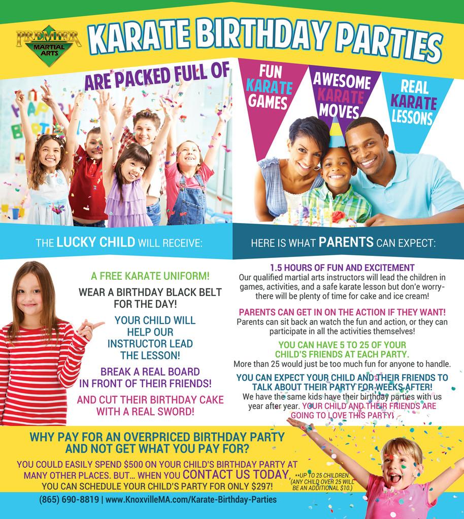 *NEW!! PMA Birthday Party Brochure