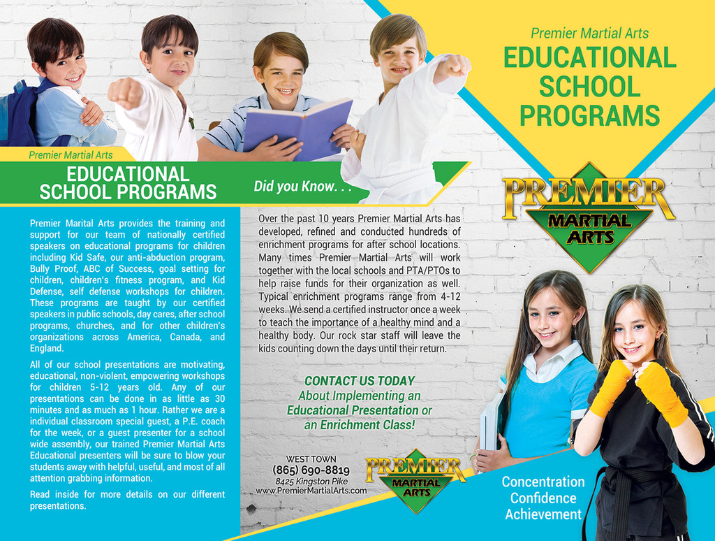 *NEW!! PMA Educational School Programs Brochure