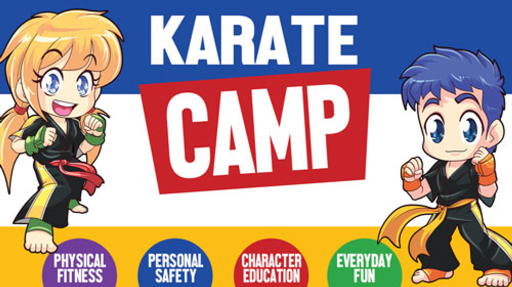 *NEW!! Kickin' Martial Arts/Karate Camp Vinyl Banner V1