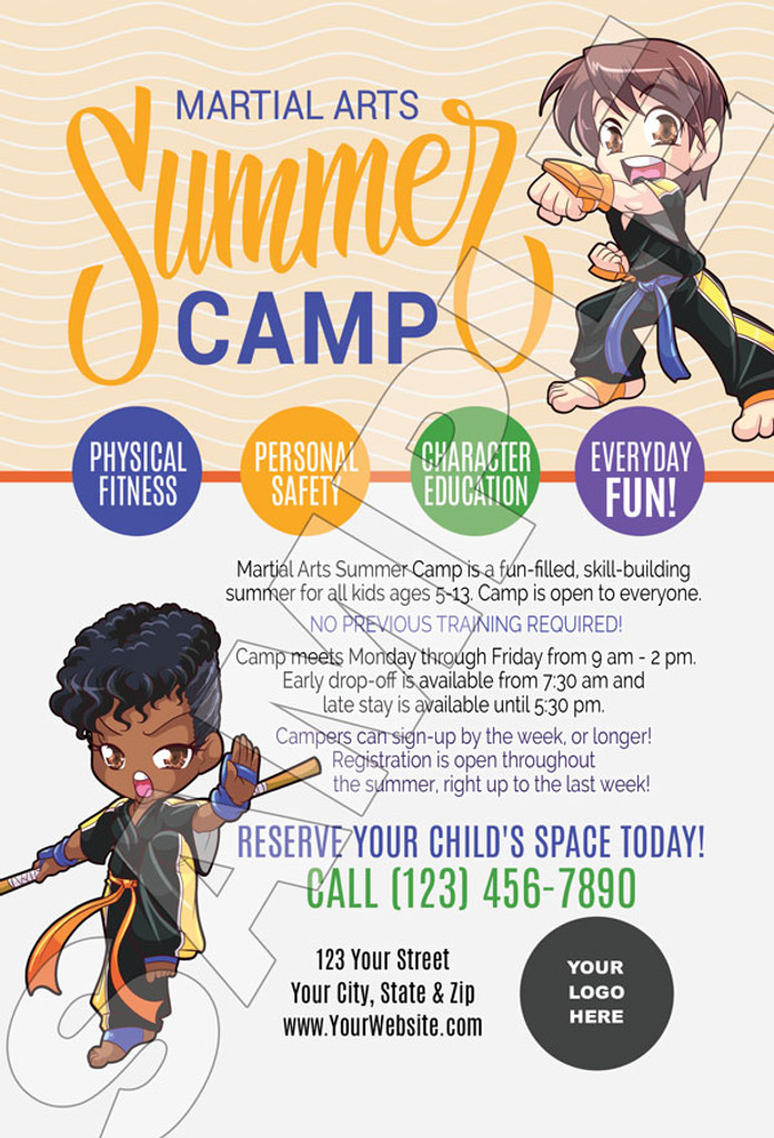 *NEW!! Martial Arts Summer Camp