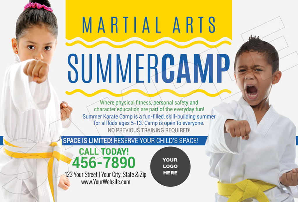 *NEW!! Martial Arts Summer Camp Wavy V2