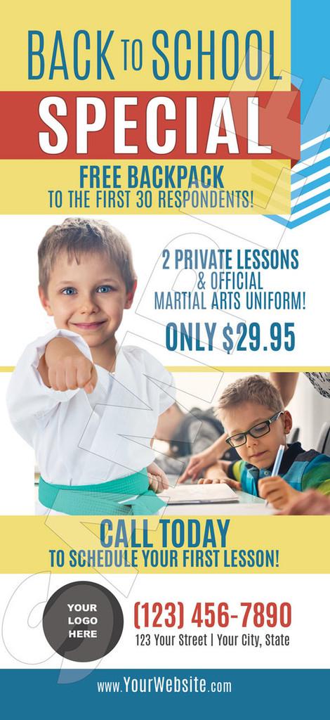 NEW!! Karate Teaches V6 Rack Cards