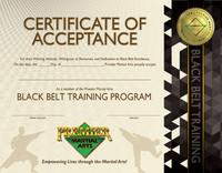 PMA Black Belt Training Certificate