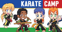 *NEW!! Kickin' Martial Arts/Karate Camp Vinyl Banner V3