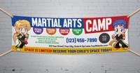 **NEW!! Martial Arts Camp V1 Vinyl Banner