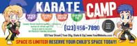 **NEW!! Karate Camp V1 Vinyl Banner