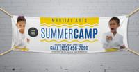 **NEW!! Martial Arts Summer Camp V3 Vinyl Banner