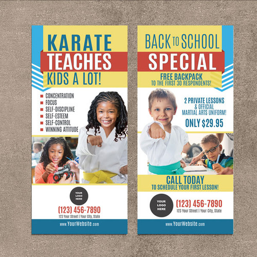 NEW!! Karate Teaches V6 Rack Cards