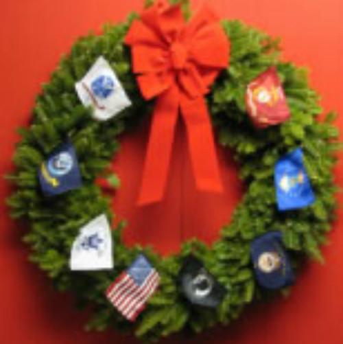 "Military Appreciation 36"" Wreath"