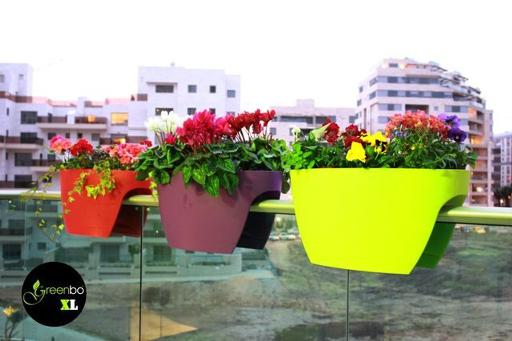 colorful your sit to balcony view railing gallery on outdoor planters creative in that hang from accessories planter