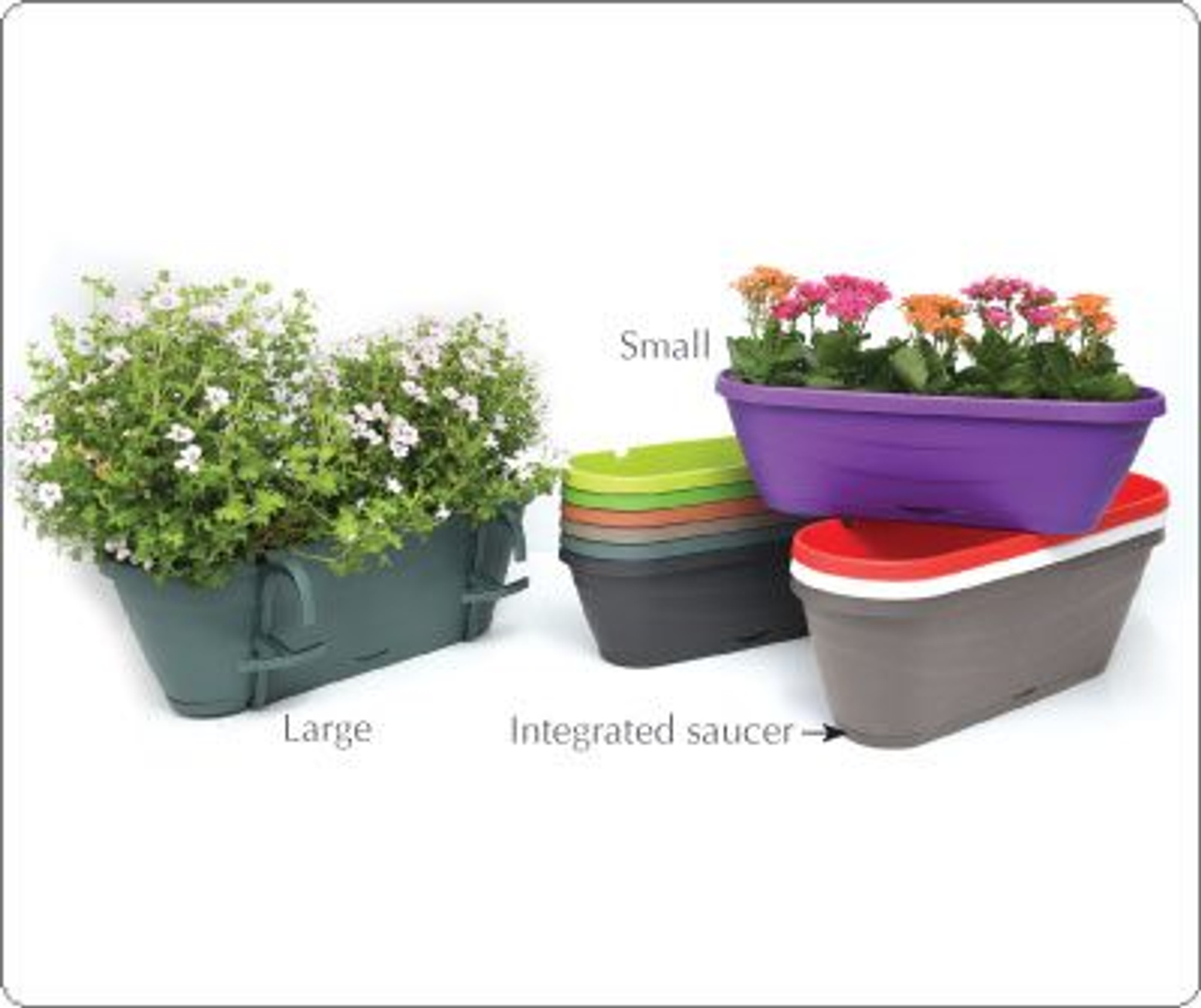 Smart  Hanging Window Box with  clever adjustable hanging system