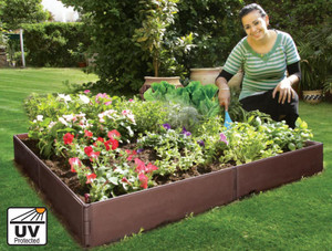 Raised plastic garden bed