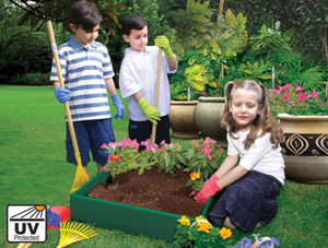 Childrens raised bed garden
