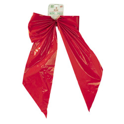 Holiday Trim 18x31 2lp Red Poly Bow 7257DOZ Pack of 12 7257DOZ