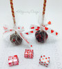 Love is Sweet and hearts in a row look oh so pretty on these sweet cake pops!