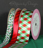 Pair our red stripes with the red and green argyle and holly berries for a wonderful layering of ribbons on your gifts!