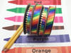 "Rainbow Stripe Ribbon on 5/8"" White Single Face Satin Ribbon, 10 Yards"
