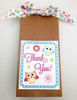 "Owls Ribbon in pastel colors with flowers on 7/8"" white single face satin ribbon, 10 yards"