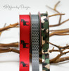 Paired with our Moose silhouette ribbon, our camouflage ribbon in green and tan makes a great Fall party theme!